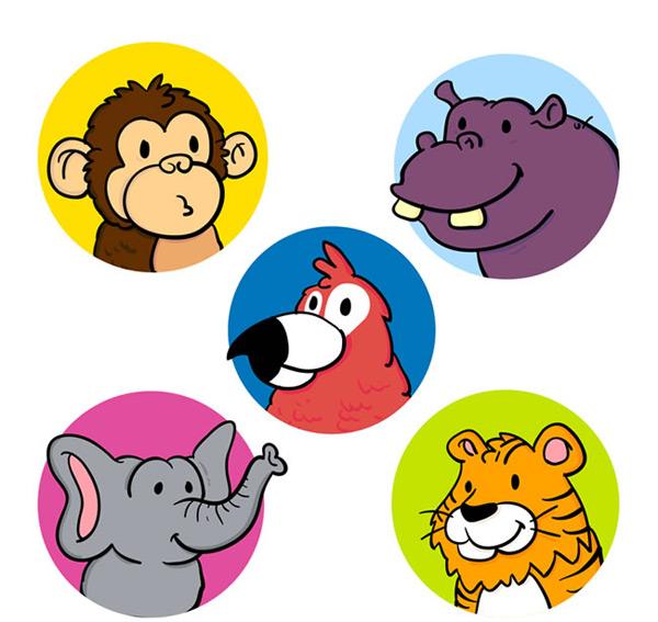 0 点 关键词: 彩色可爱动物头像矢量素材,动物头像,圆形头像,猴子