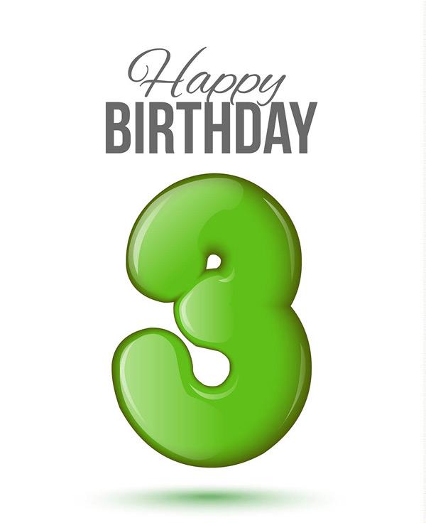 生日数字3