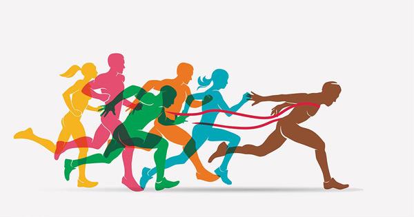 跑步比赛人物剪影