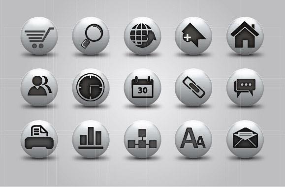精美实用的网页图标矢量素材,网页,web,图标,按钮,按键,button,icon图片