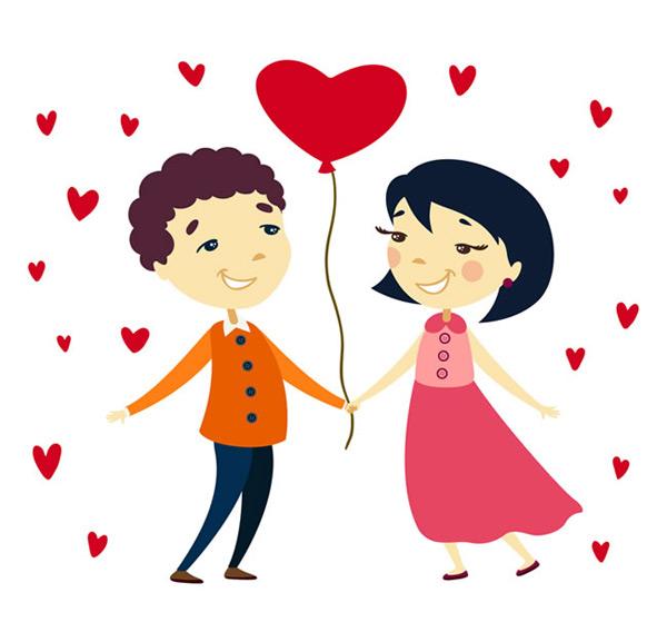 0 点 关键词: 卡通情侣与爱心气球矢量素材,卡通情侣,人物,男子,女子