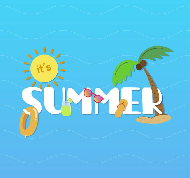夏天英语幼儿图片大全