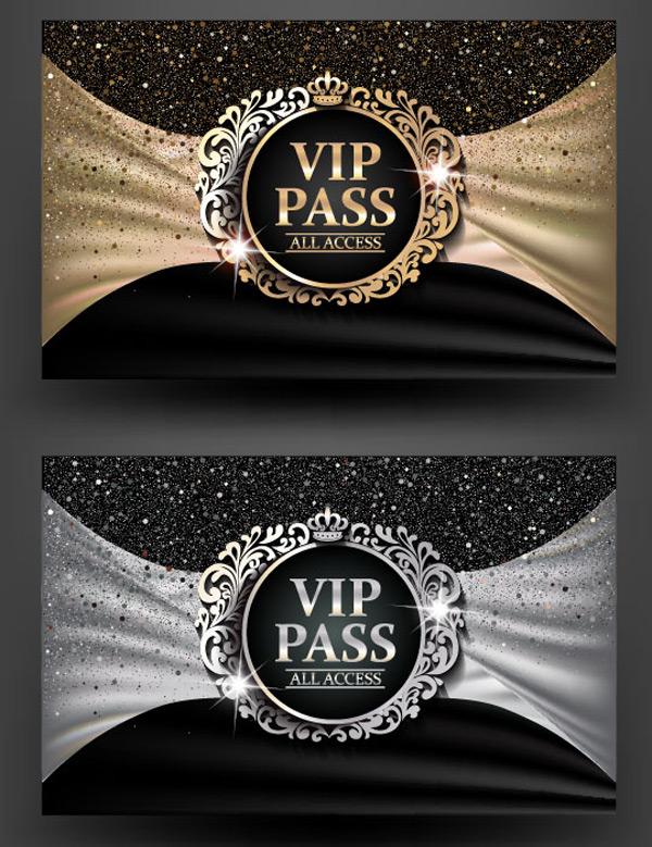 黑金风格高档VIP卡矢量素材,黑色背景,亮片背景,金卡,银卡,欧式高档卡片,会员卡,VIP卡,贵宾卡,礼物卡,创意卡片,VIP邀请函,尊贵会员,会员卡设计,贵宾卡,广告设计,矢量素材,EPS