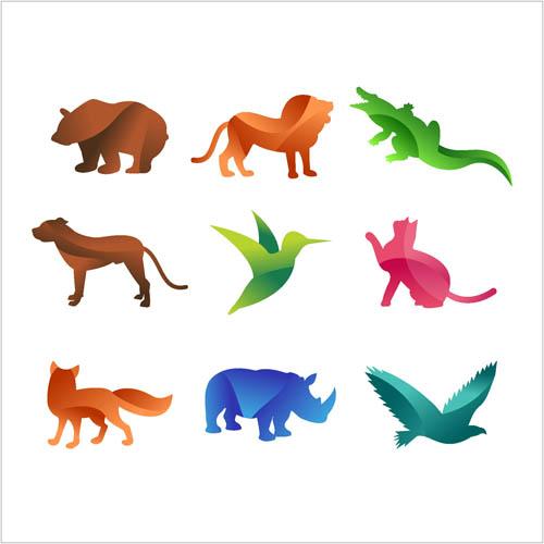 动物剪影矢量素材下载,矢量素材,矢量图,设计素材,创意设计,动物,图标
