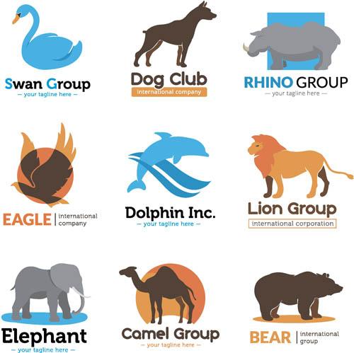 矢量图,设计素材,创意设计,动物,标志,logo,图标,犀牛,大象,小象,折纸