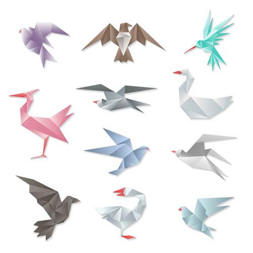 矢量素材,矢量图,设计素材,创意设计,动物,图标,蜂鸟,小鸟,,折纸,天鹅