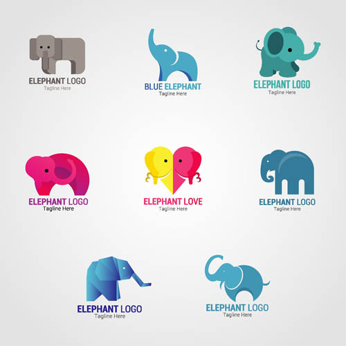 矢量素材,矢量图,设计素材,创意设计,动物,标志,logo,图标,大象,小象