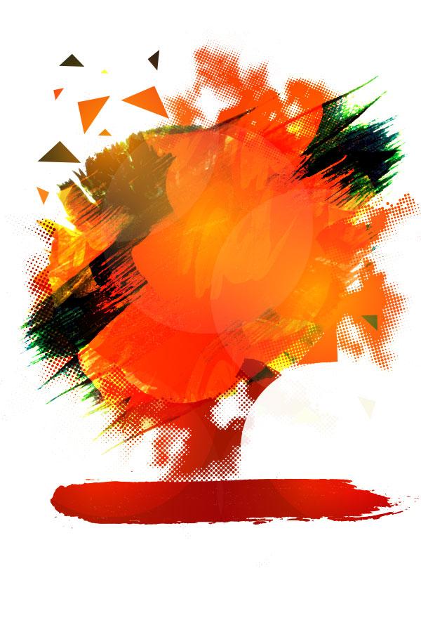 素材分类: 矢量背景所需点数: 0 点 关键词: 橙色水墨背景图,纹理