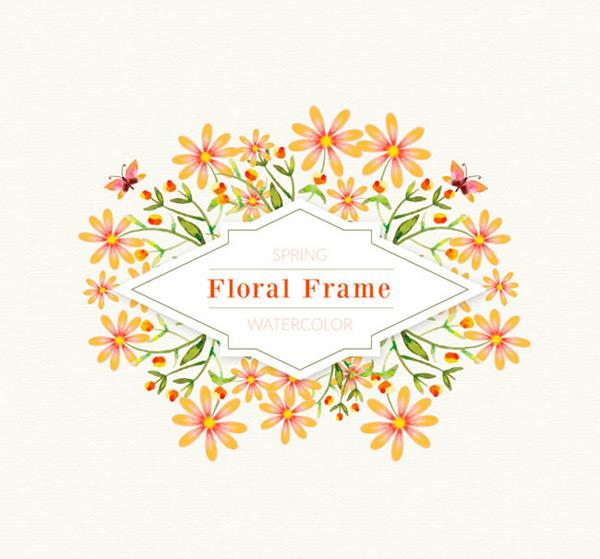 花卉和蝴蝶框架