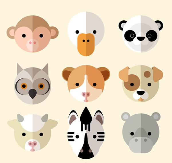 素材分类: 矢量卡通动物所需点数: 0 点 关键词: 可爱动物圆形头像