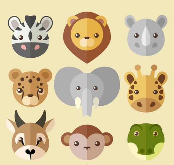 素材分类: 矢量卡通动物所需点数: 0 点 关键词: 创意扁平化野生动物