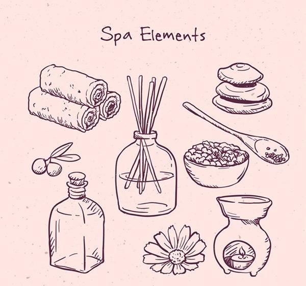 素材分类: 矢量生活用品所需点数: 0 点 关键词: 手绘spa元素图案矢量