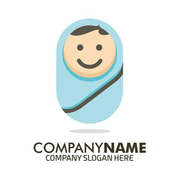 婴儿logo,母婴店logo,卡通logo,创意logo,logo设计,标志图形,矢量素材