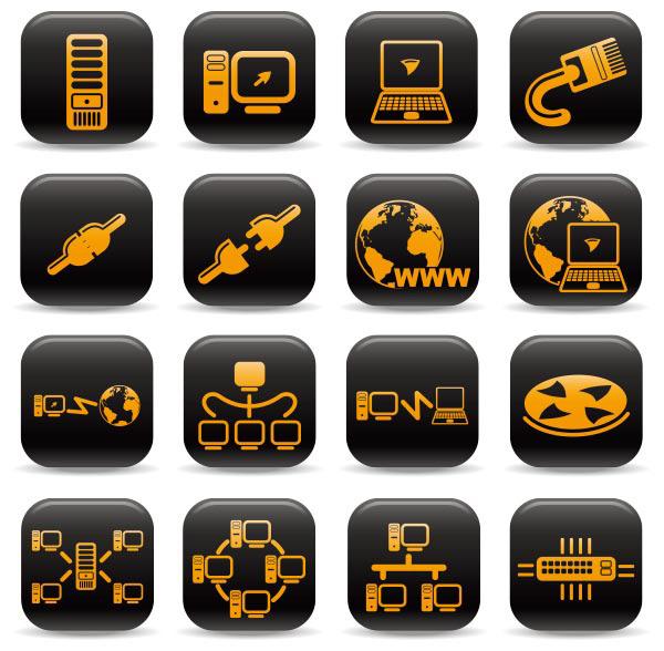 素材分类: 矢量各式图标所需点数: 0 点 关键词: 网络设备图标矢量
