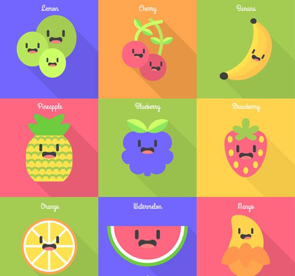 可爱表情水果_素材中国sccnn.com