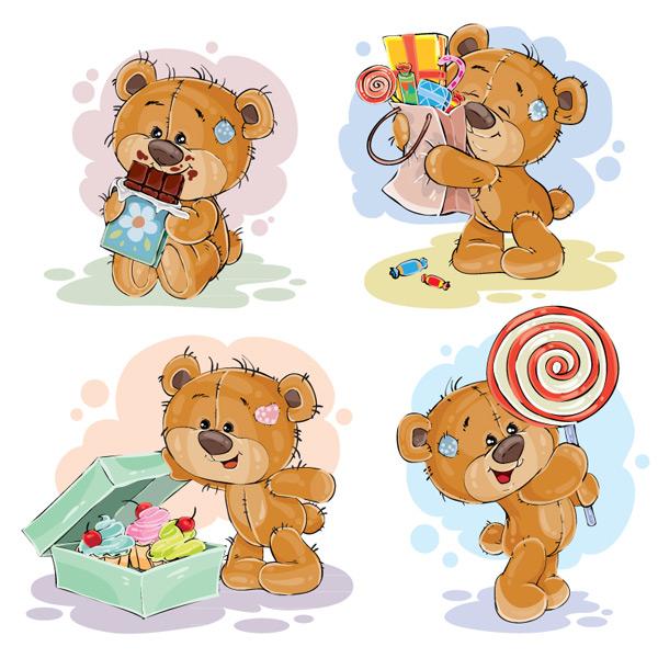 素材分类: 矢量卡通角色所需点数: 0 点 关键词: 可爱泰迪熊设计矢量