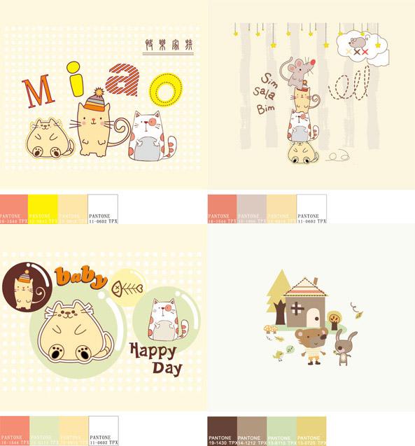 可爱小动物插画_素材中国sccnn.com
