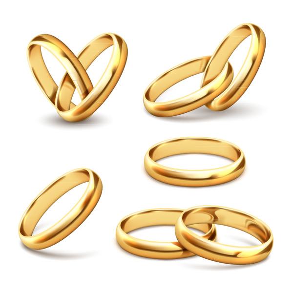 金色戒指设计