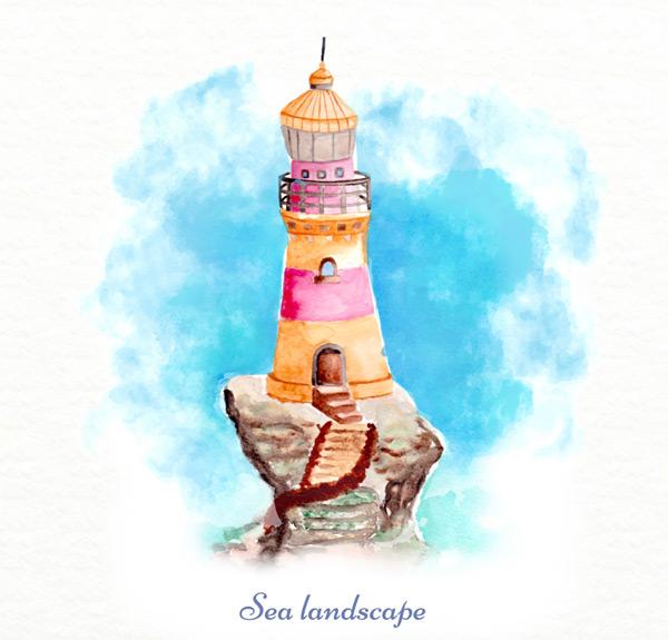 峭壁上的灯塔