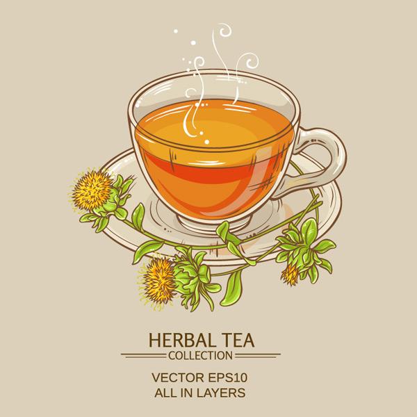 素材分类: 矢量饮品所需点数: 0 点 关键词: 彩绘花草茶和花卉矢量
