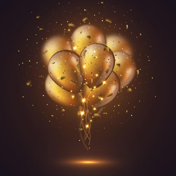 金色气球束