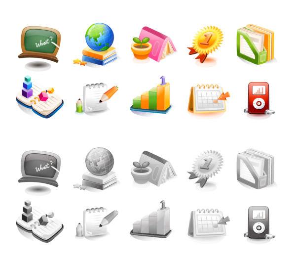 0 点 关键词: 教育学习图标,发三维,科技,经典,彩色,图标,icon,黑板