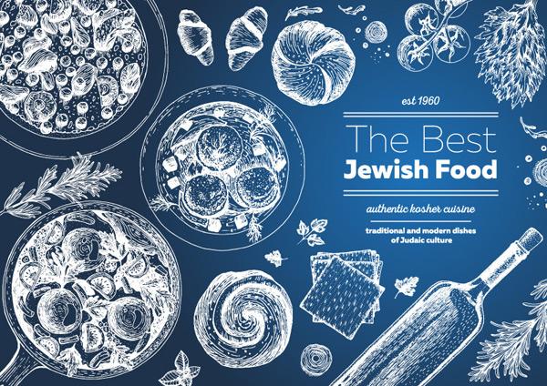0 点 关键词: 创意手绘犹太食品菜单矢量素材,披萨,西红柿,面包,香槟