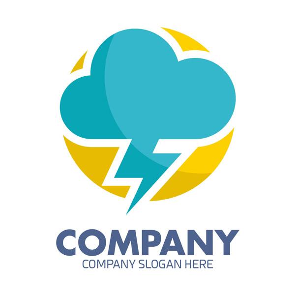 云朵闪电logo