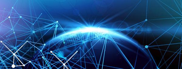 发光地球科技背景