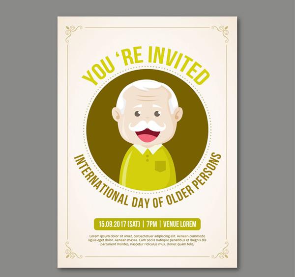 0 点 关键词: 可爱老人派对邀请卡矢量素材,老爷爷,头像,笑脸,国际