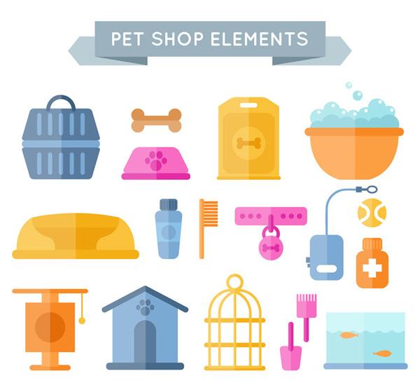 0 点 关键词: 18款扁平化宠物用品矢量素材,宠物手提篮子,骨头,宠物