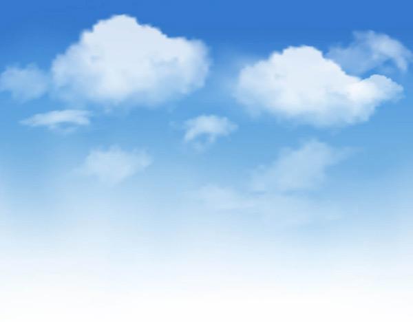 云海,云层,云朵,天空,风景,自然渐变背景,天空背景,蓝色背景,矢量素材