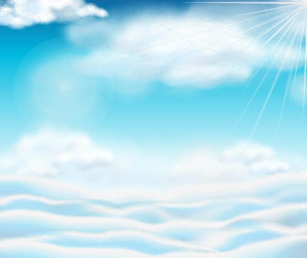 蓝天,白云,云海,云层,云朵,天空,风景,自然渐变背景,天空背景,蓝色