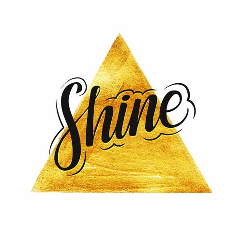 金色颜料上的字母