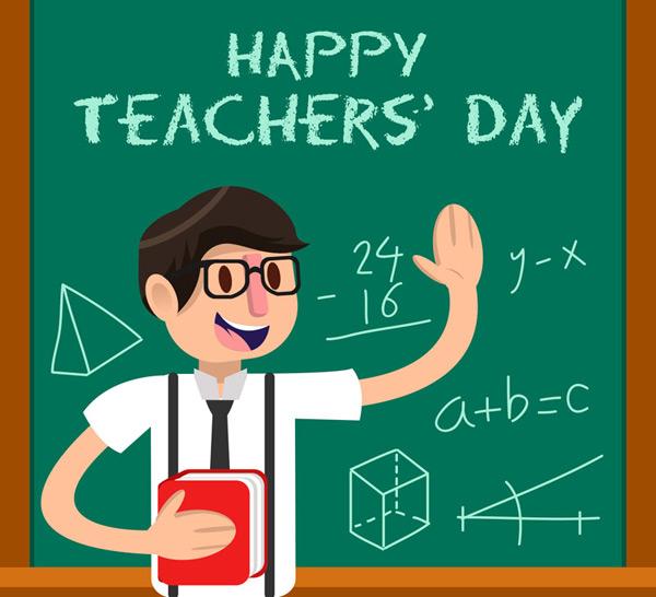 矢量教师节所需点数: 0 点 关键词: 数学老师教师节贺卡矢量素材