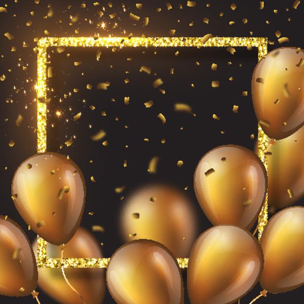 闪耀气球立体边框