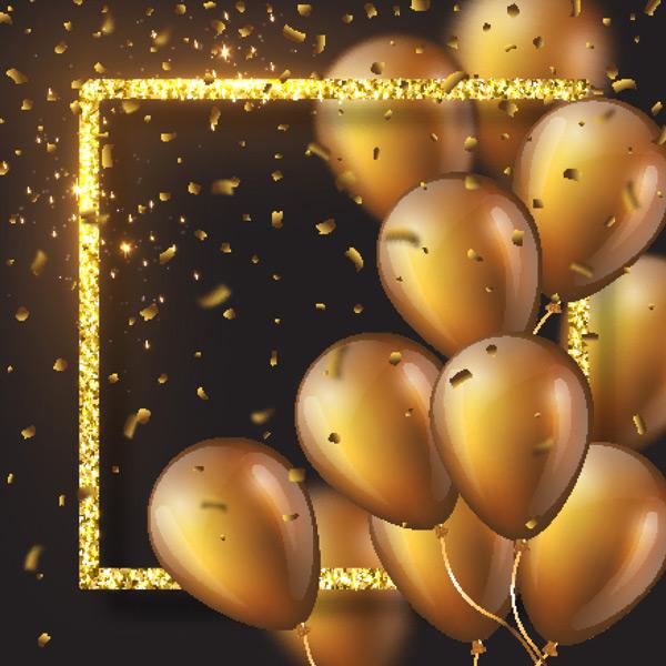 闪耀立体气球边框