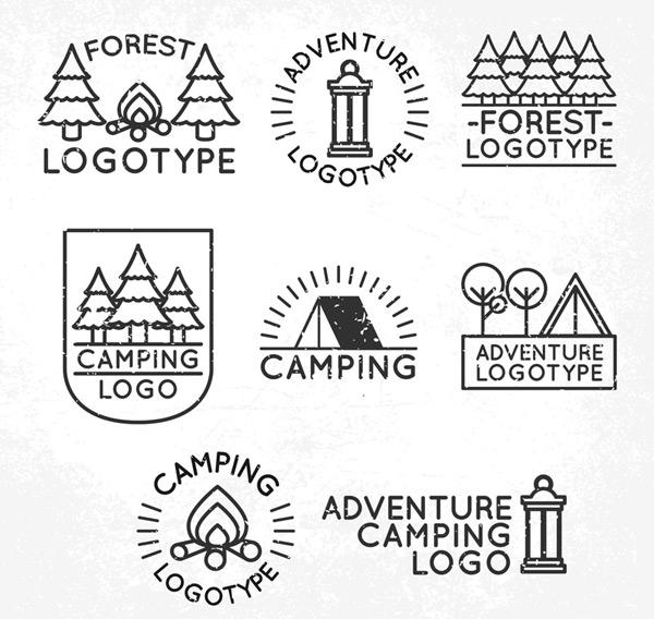 森林野营标志