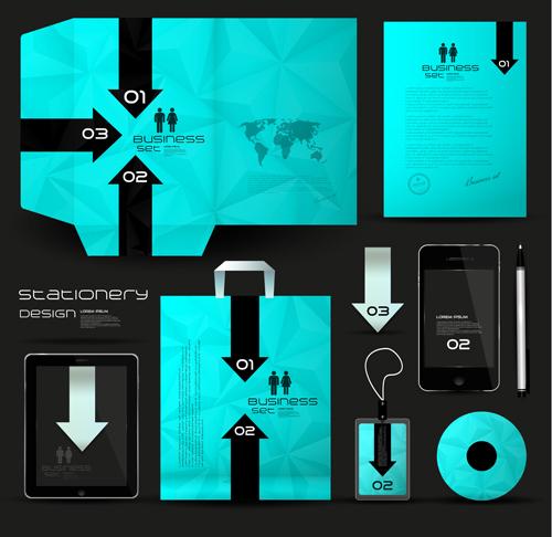 蓝色VI应用模板