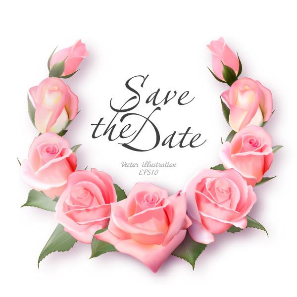 玫瑰花环边框
