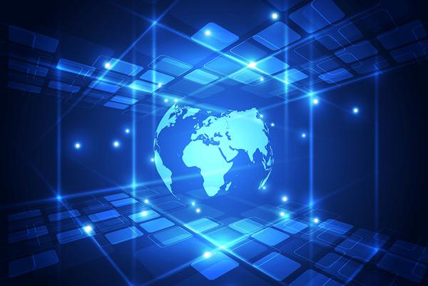 抽象背景,方块,发光,空间,电路,通信,计算机,概念,连接,网络空间,数字