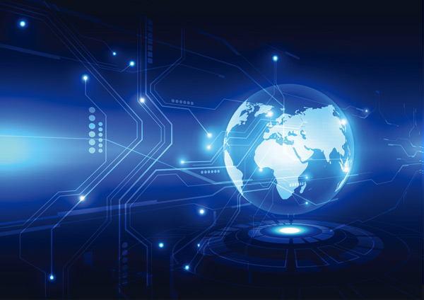 蓝色发光线条地球科技背景矢量素材,抽象背景,线条,发光,空间,电路,通信,计算机,概念,连接,网络空间,数字,电子,能源,工程,未来科技,全球,图形,插图,互联网,激光,光线,地图,科学,蓝色科技背景,矢量素材,EPS