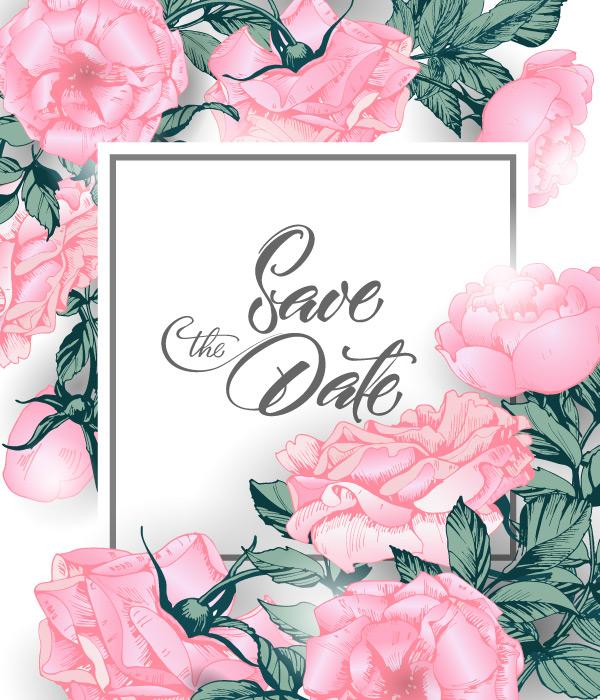 粉色玫瑰花朵边框花边矢量素材,花朵背景,花卉插图,生日贺卡,庆祝,活动,装饰,情人节贺卡,标签标贴,爱情,植物,花卉,边框花边,节日贺卡,复古,时尚,粉色,典雅,浪漫,魅力,婚礼请柬,手绘花朵,邀请卡,粉色玫瑰,请柬贺卡,婚姻贺卡,矢量素材,EPS