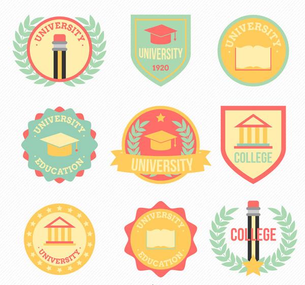 素材分类: label矢量所需点数: 0 点 关键词: 彩色大学校园标签矢量