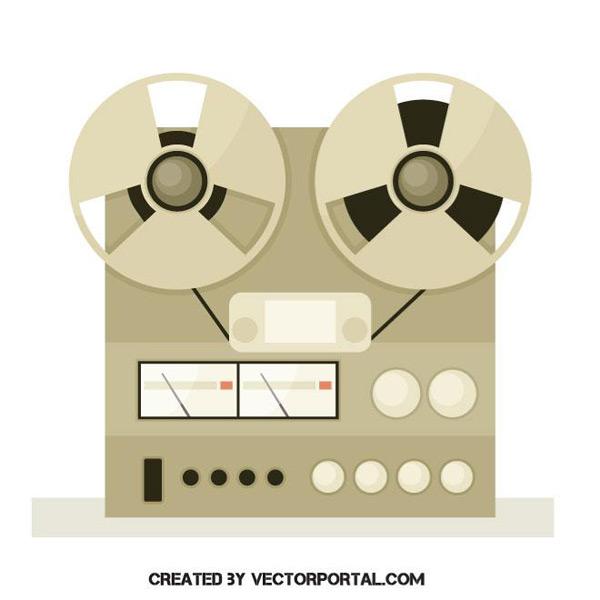 素材分类: 矢量电器所需点数: 0 点 关键词: 复古录音机,插画,老式音