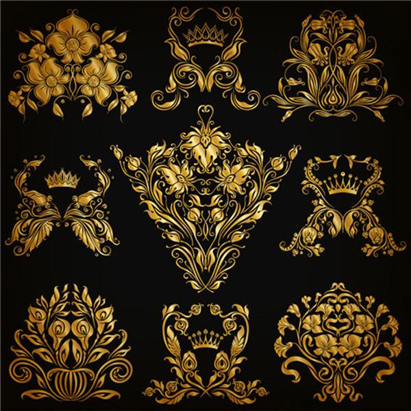 金色奢华花纹图案