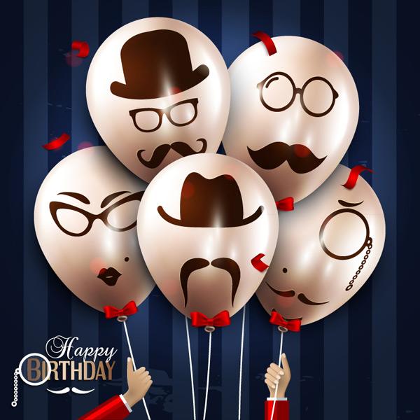 创意,鸡蛋,气球,创意气球,质感,气球束,生日,胡须,眼镜,帽子,领结,源