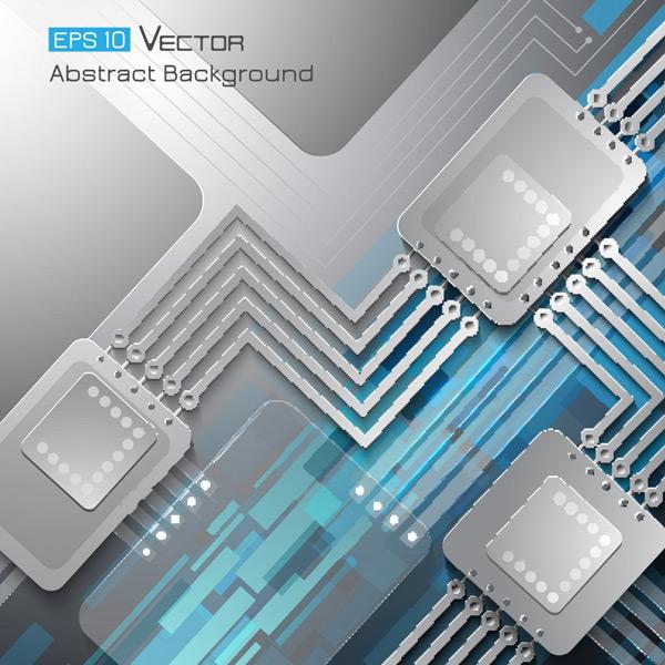 关键词: 时尚立体电子科技背景矢量素材,核心,芯片,电子产品,电路板