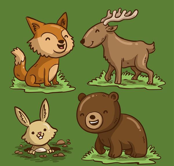 笑脸森林动物图片