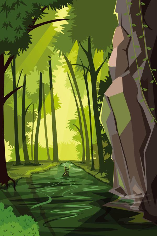 森林自然风景